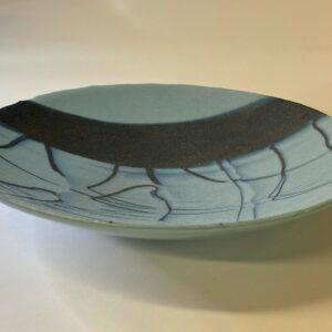 'icy sea' glass bowl